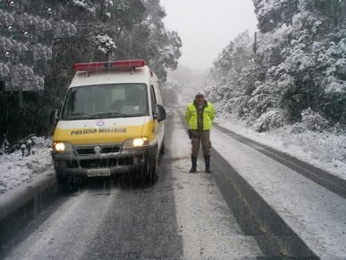 BPMRv: Operação Neve na Pista 2013 - Foto arquivo da 5ª Seção/BPMRv
